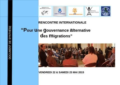 Seminario internacional sobre Gobernanza alternativa de las migraciones